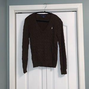 Ralph Lauren v neck long sleeve sweater size large